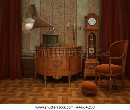 classical interior with...