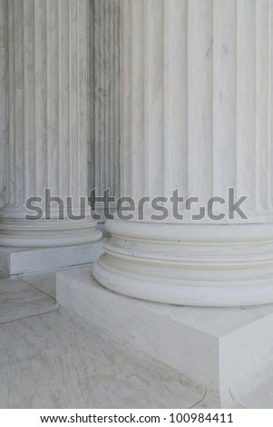 Classical marble columns
