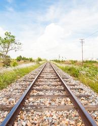 Classical railway or railroad in Thailand.