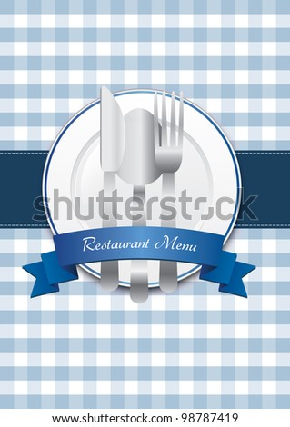 Classical restaurant menu design
