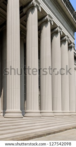 classical style building with columns