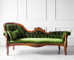 Classical style sofa in a white room