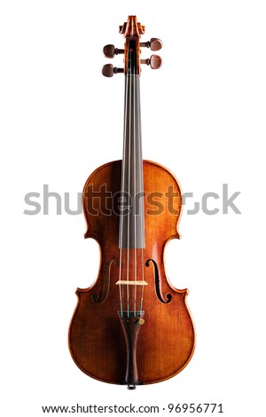 Classical violin - isolated (white background)