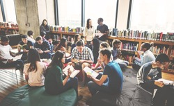 Classmate Classroom Sharing International Friend Concept