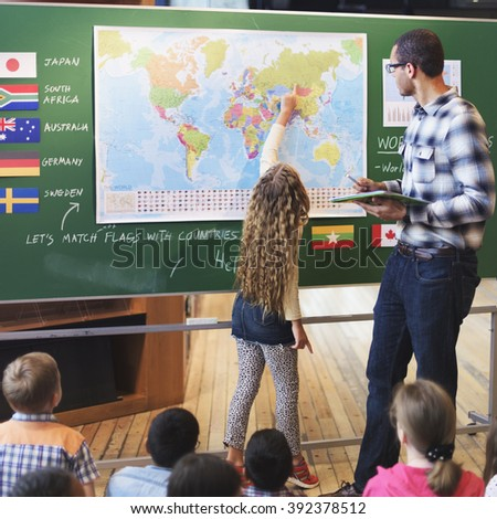Classroom Learning Geography Students Study Concept