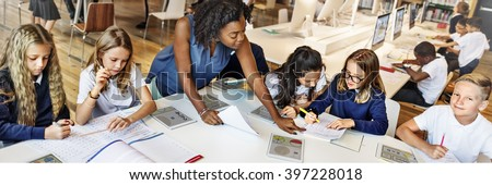 Classroom Learning Mathematics Students Study Concept