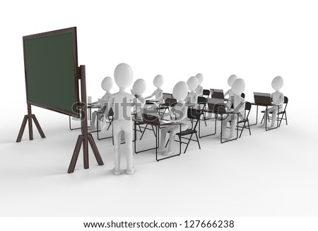 Classroom of students with teacher at the front