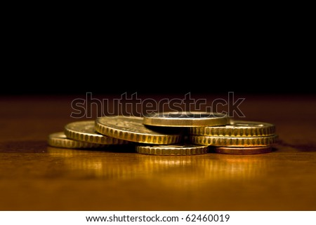 Classy shot of some euro coins