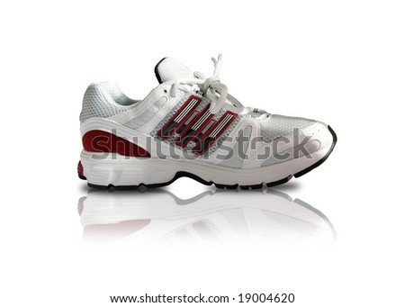 classy sports shoe in white and red