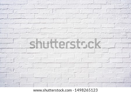 Classy white brick exterior wall design spa e as background