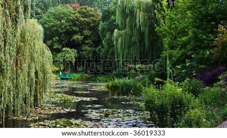 Claude Monet Gardens - stock photo