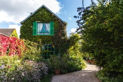 Claude Monet house in Giverny, famous garden as an inspiration for impressionism paintings