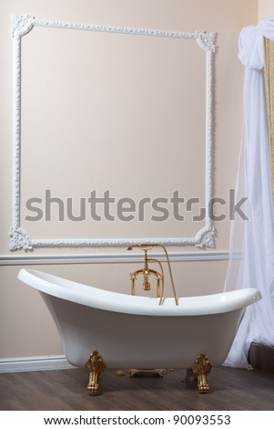 Claw-foot tub in a luxurious bathroom - stock photo