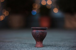 Clay bowl for hookah. Antique style