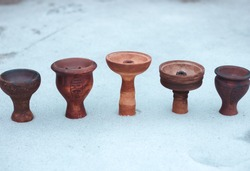 Clay bowls for hookah. Antique style