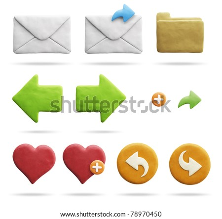 Clay Icons | Mail & Internet (with Clipping Path)