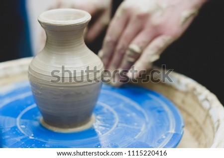 Free Photos Pots Of Clay And Hand Of A Master Avopix