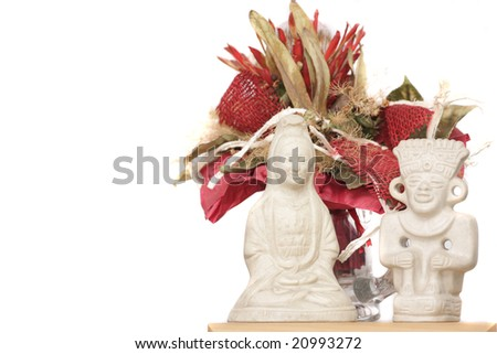 clay-statuettes isolated on white