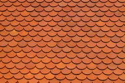 Clay tile roof texture background