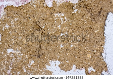 clay wall, Background