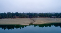 Cle Elum lake in Roslyn, Washington