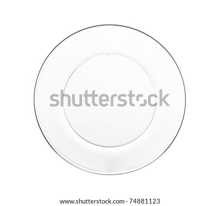 Clean and clear dish glassware an image isolated on white