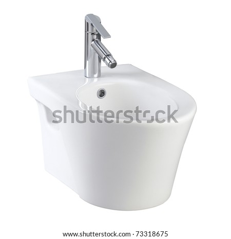 Clean and useful toilet urinate bowl small and compact an image isolated on white