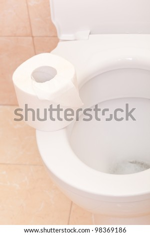 Clean and white toilet
