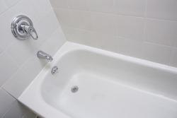 Clean bathroom modern  bath , bathtub , bathroom white hygiene clean modern style. Hotel real estate , luxury wellbeing style leisure and care.