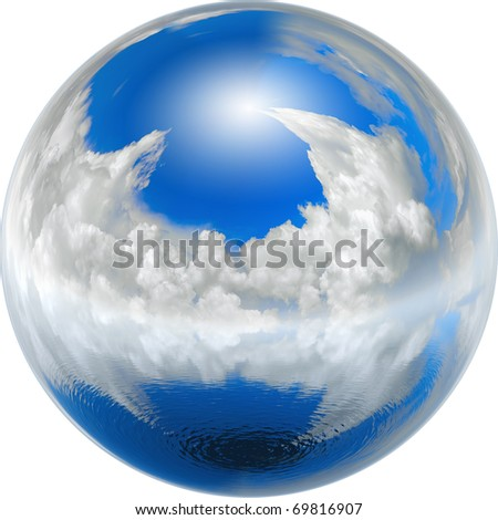 clean blue earth, ecology concept