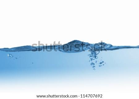 Clean blue water splash on white background illustration