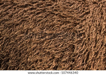 Clean Brown Wool of Young Lamb