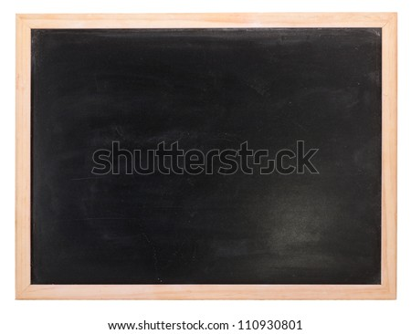 Clean chalk board  on white background