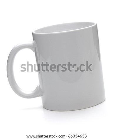Clean coffee cup. Isolated on white background