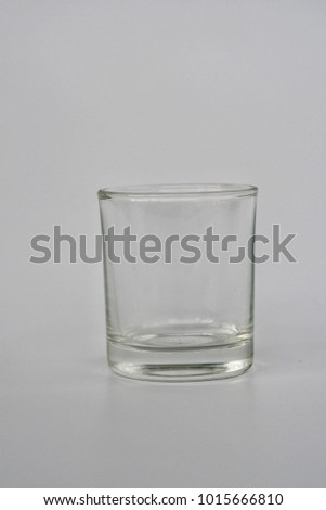 Clean Empty Cylinder Glass On Background For Drinking Beverage And