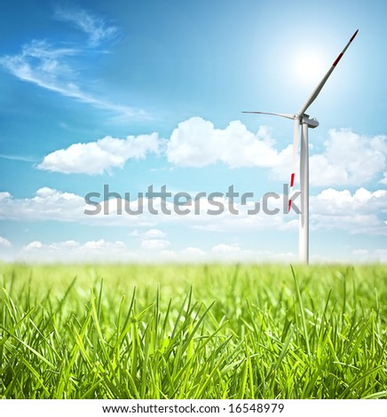 Clean energy concept - stock photo