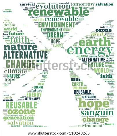 Clean energy concept: text graphics - stock photo