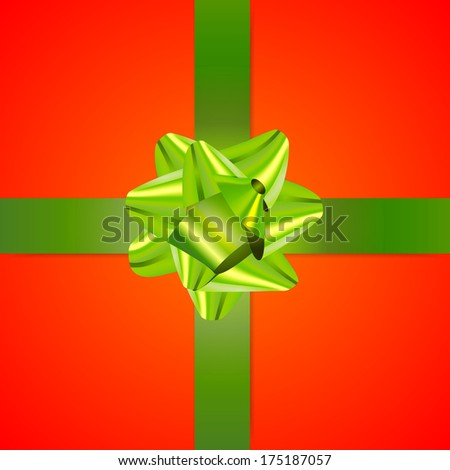 Clean green and red gift background