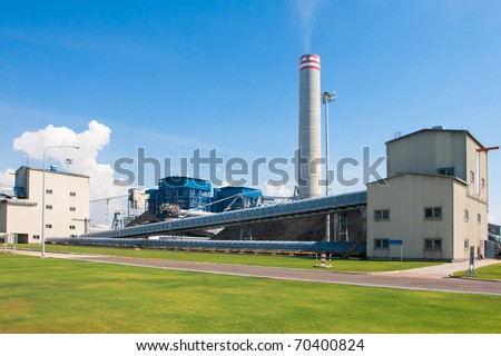 Clean green and safety electricity generation power plant in the industrial estate