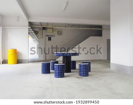 Clean HDB Void Deck in Bishan, Singapore Stockfoto ©