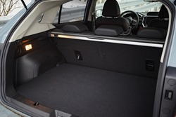Clean, open empty trunk in the car SUV
