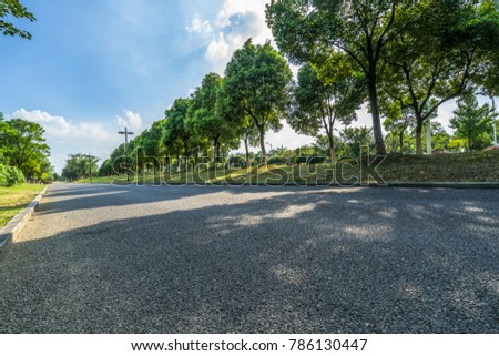 clean road and blue sky #786130447