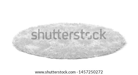 Clean round floor carpet. 3d illustration isolated on white background  Stockfoto ©