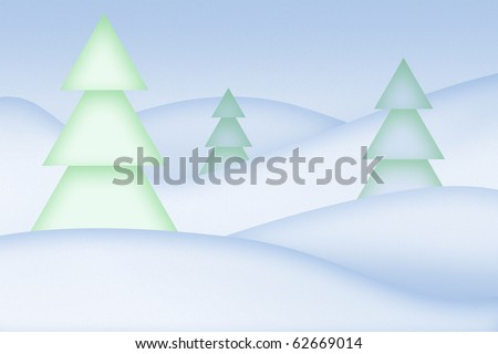 Clean simple snowy abstract background.