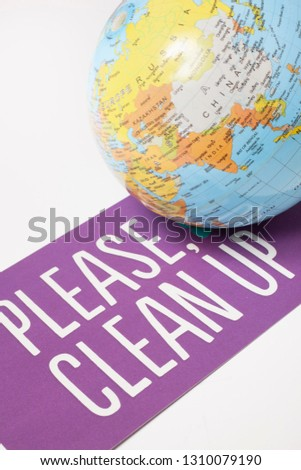 clean up the world - ecological concept #1310079190