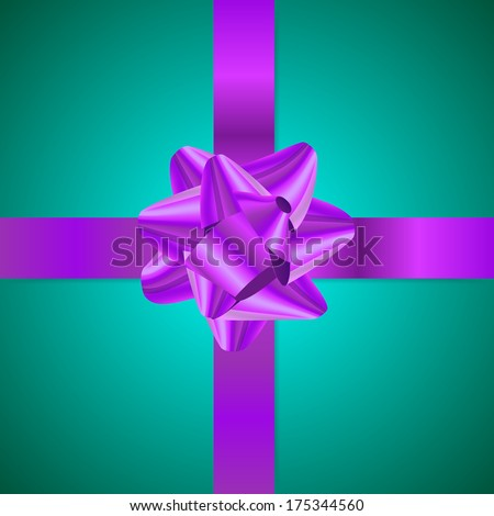 Clean violet and turquoise gift background