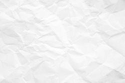 Clean white paper, wrinkled, abstract background.