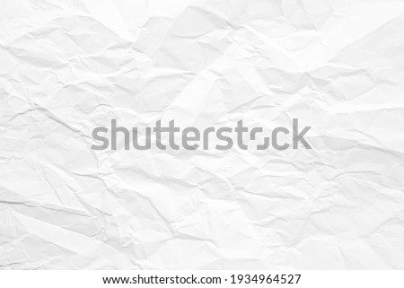 Clean white paper, wrinkled, abstract background. Foto stock ©