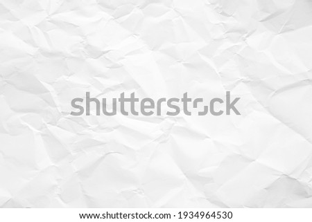 Clean white paper, wrinkled, abstract background. Stock photo ©