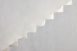 Clean white stairs seen on a greek island